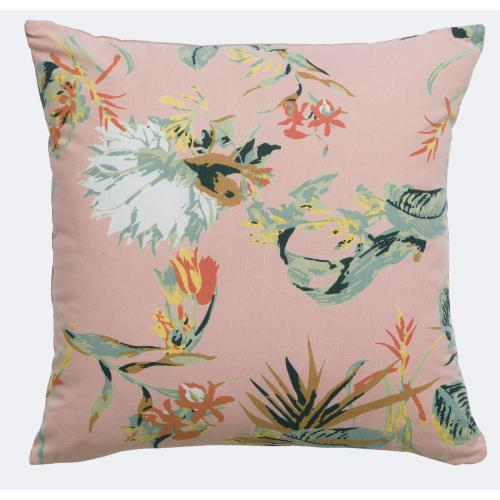 3S. x Home - Coussin coton Botania Pink - Coussins