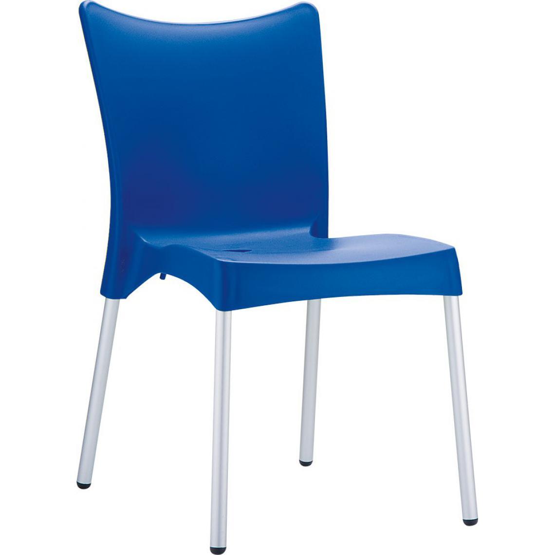 Chaise Design Bleu JULIE 3Suisses Mobilier Deco