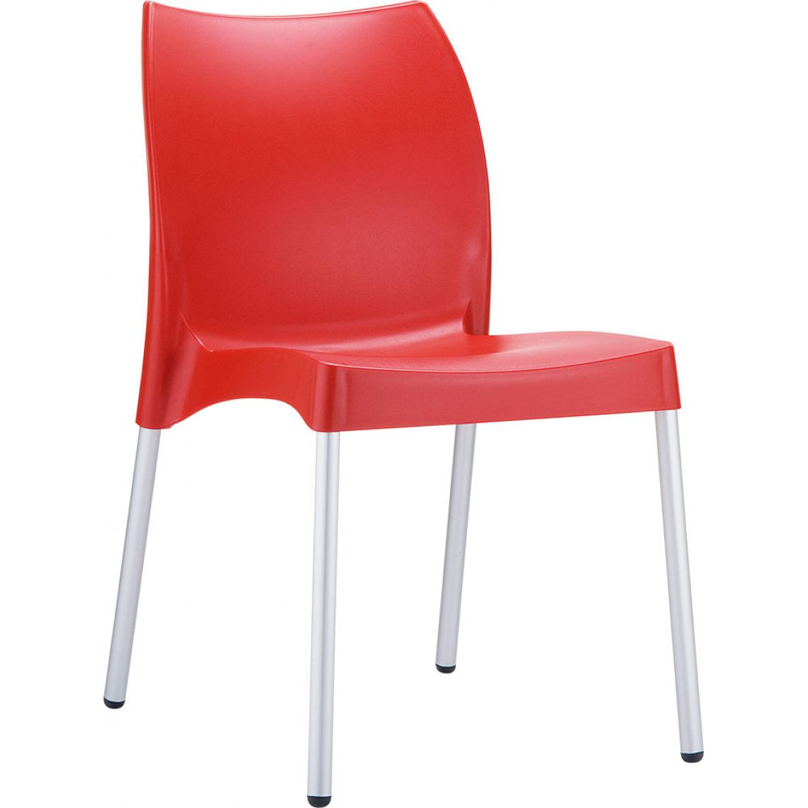 chaise design rouge martha 3suisses. Black Bedroom Furniture Sets. Home Design Ideas