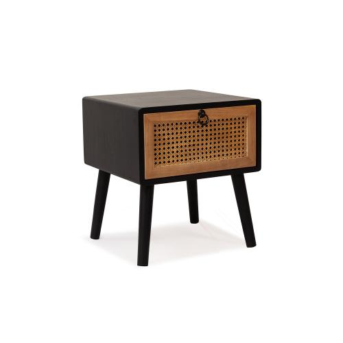 3S. x Home - Chevet Noir JIMMY - Table de chevet