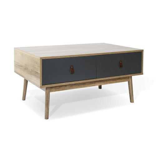 3S. x Home - Table de basse Bois et Gris LEREA - Table basse