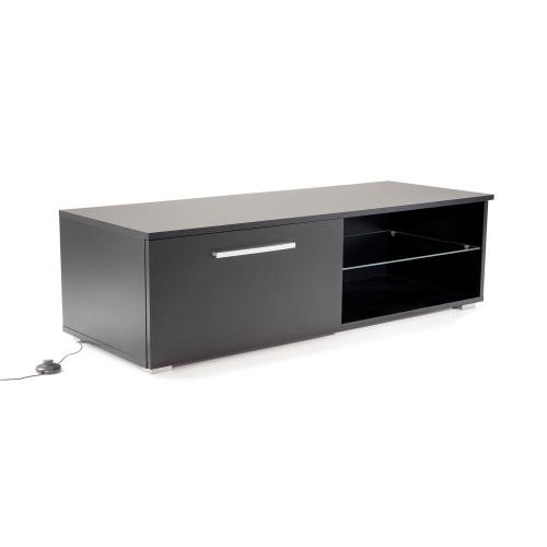 3S. x Home - Meuble TV Led Noir OKLAHO - Table basse