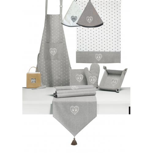 3S. x Home - Gant de cuisine Ombre 18 x 28 Duo de chats  - Linge de table