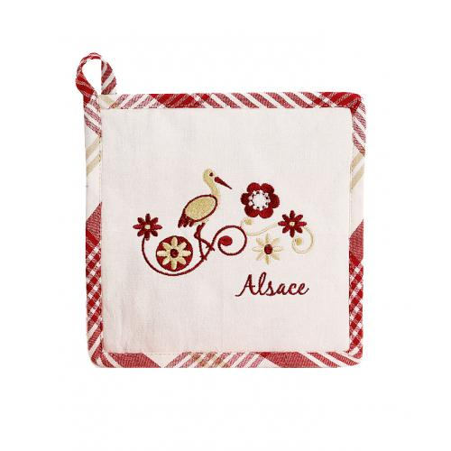 3S. x Home - Manique Rouge 20 x 20 Harz  - Linge de table