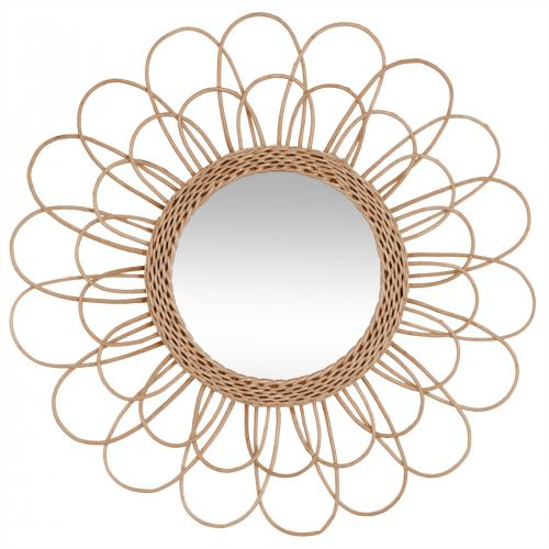 3S. x Home -  Miroir Rotin FLOWERA - Collection ethnique meuble deco