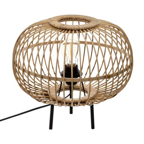 3S. x Home -  Lampe Boule en Bambou Naturel EDDIL  - Collection ethnique meuble deco