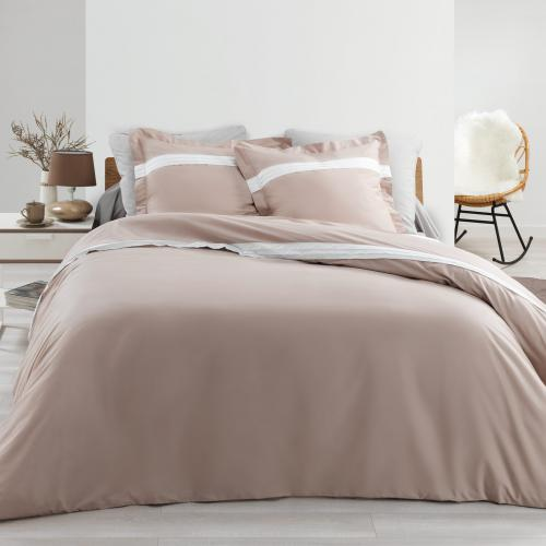 3S. x Home - Parure Astoria Naturel - Linge de lit couleurs pastel