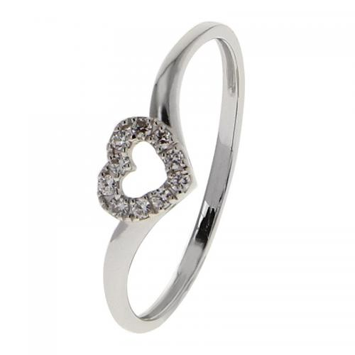 Or 9 Carats - Bague Or blanc 375 Zirconium 09SK89GZ - Promotions