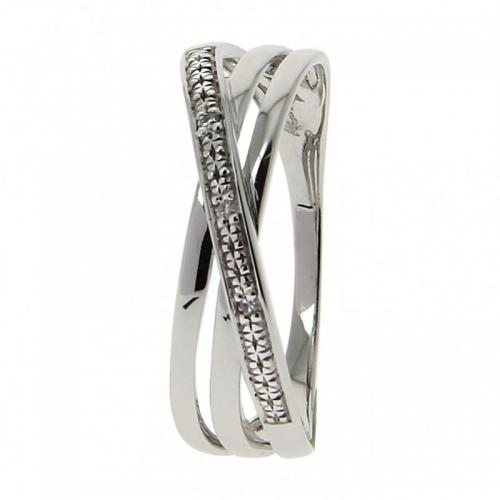 Or 9 Carats - Bague Or blanc 375 Diamant 09ZE84GB - Promotions