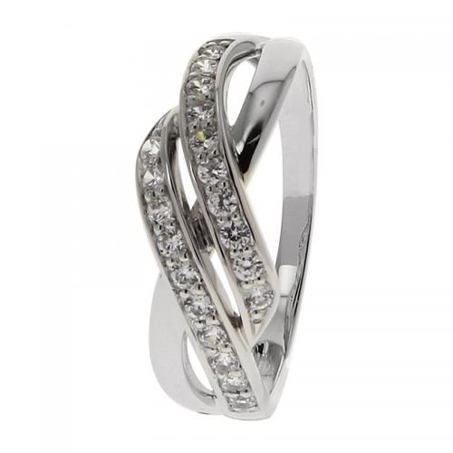 Or 9 Carats - Bague Or blanc 375 Zirconium 09C452GZ - Promotions
