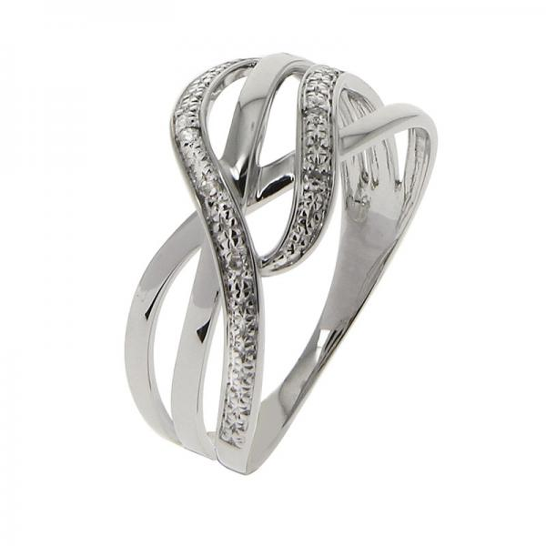 Bague Or blanc 375 Diamant 09ZG13GB Or 9 Carats Or 9 Carats Femme
