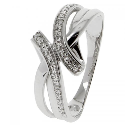 Or 9 Carats - Bague Or blanc 375 Diamant 09ZF26GB - Or 9 Carats