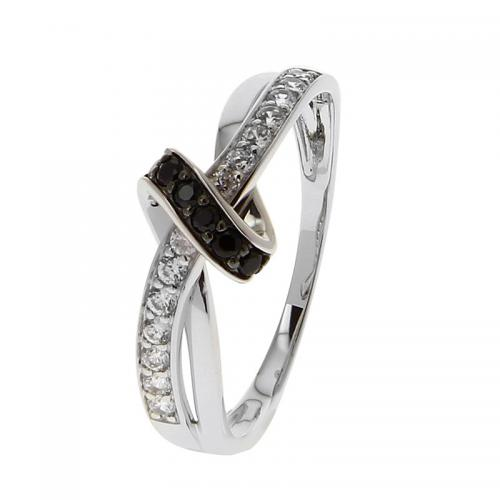 Or 9 Carats - Bague Or blanc 375 Zirconium 09SH29GNZ - Promotions
