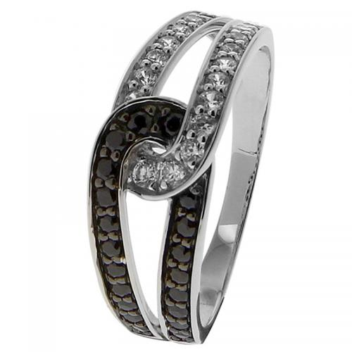 Or 9 Carats - Bague Or blanc 375 Zirconium 09SH32GNZ - Promotions