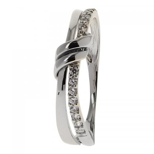 Or 9 Carats - Bague Or blanc 375 Zirconium 09SE43GZ - Promotions