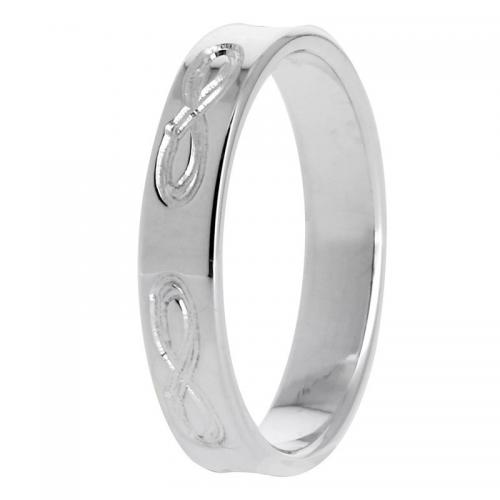 Balade Argentee - Alliance Ruban infini 4 mm en Argent