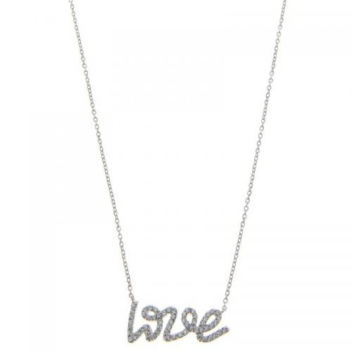 Balade Argentee - Collier Love and shine en Argent rhodié