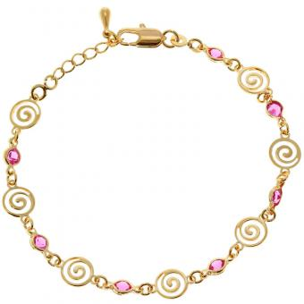 Passeport Pour L'Or - Bracelet Twisted rose plaqué Or - Bijoux femme