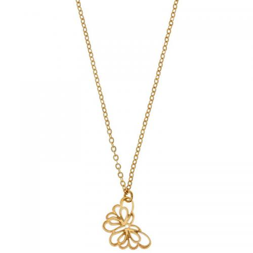 Sortileges - Collier Sweet butterfly plaqué Or