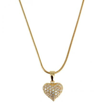 Collier Shining heart plaqué Or Passeport Pour L'Or Femme