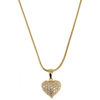 Passeport Pour L'Or - Collier Shining heart plaqué Or - Bijoux femme