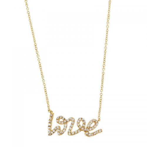 Passeport Pour L'Or - Collier Love and shine plaqué Or