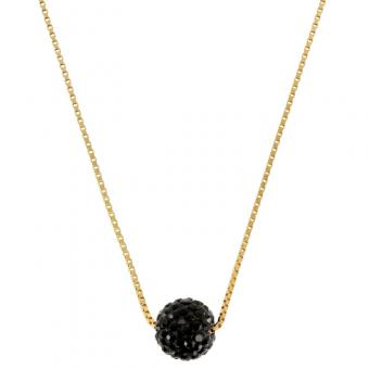 Passeport Pour L'Or - Collier Disco black plaqué Or - Bijoux femme