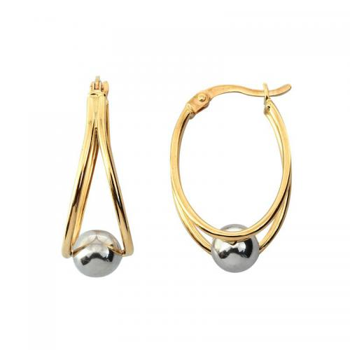 Or 9 Carats - Boucles d'oreille Ovalia - Promotions