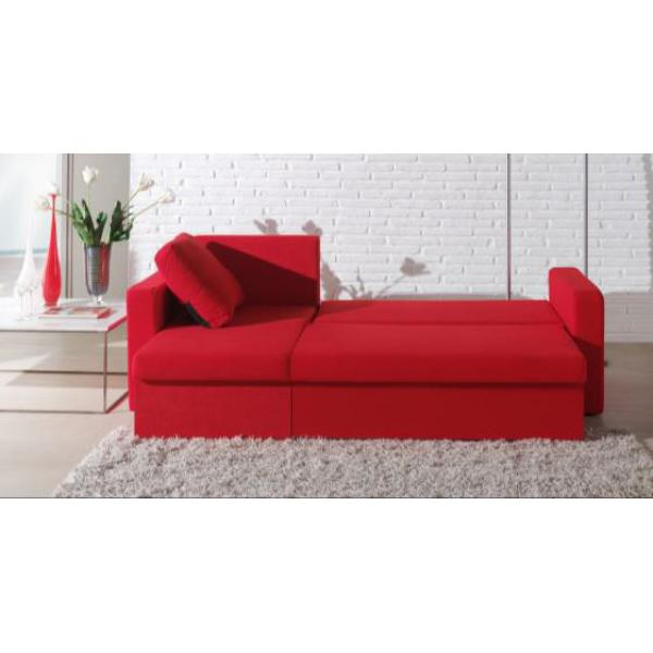 canap d 39 angle modulable 3 places microfibre rouge liberty. Black Bedroom Furniture Sets. Home Design Ideas