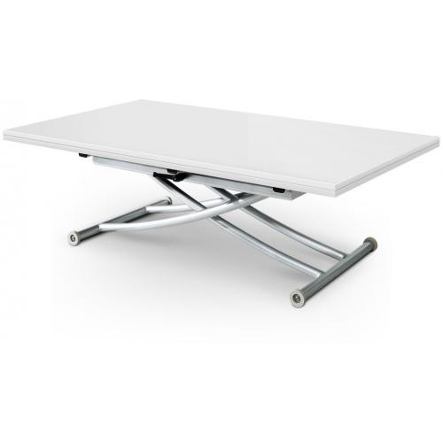 3S. x Home - Table Basse Relevable à Rallonge blanc Ella - Table basse