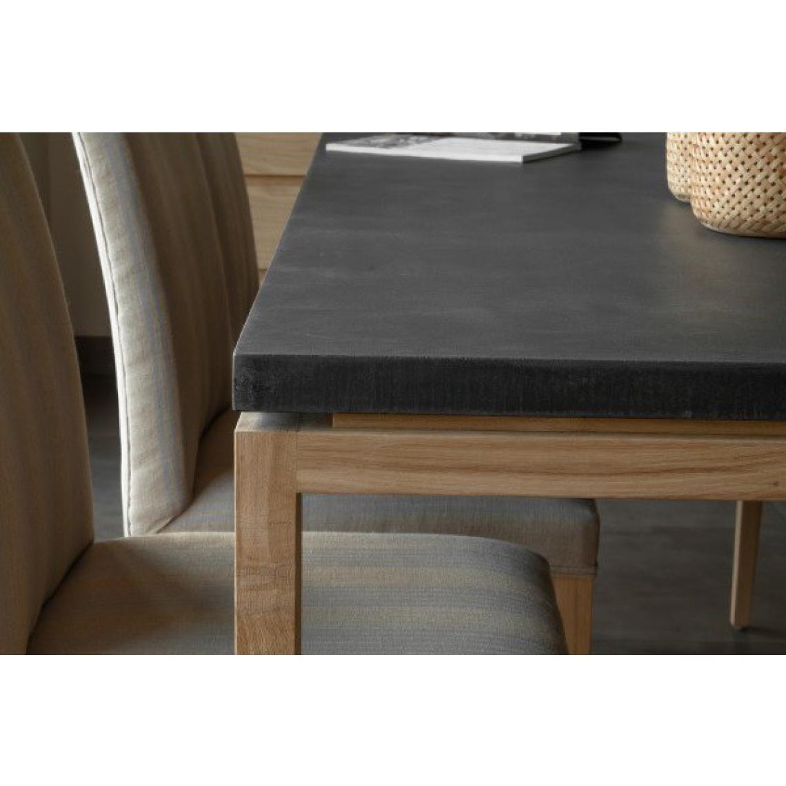 Rehausser Une Table De Salle A Manger table à manger 180 en chêne massif avec plateau noir copa plus de détails