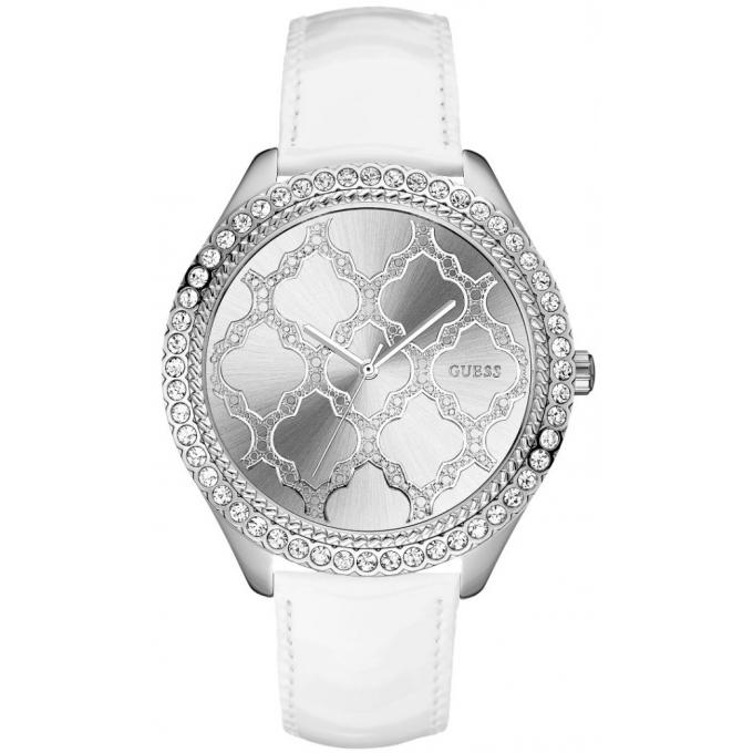 sells watch discount shop Montre Guess Majestic W0579L3 - Montre Cuir Blanche Femme