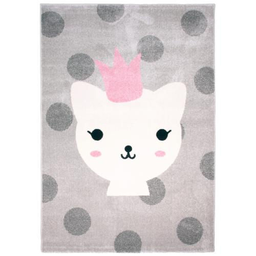 3S. x Home - Tapis enfant princesse chat 120x170cm LANNA - Décoration enfant