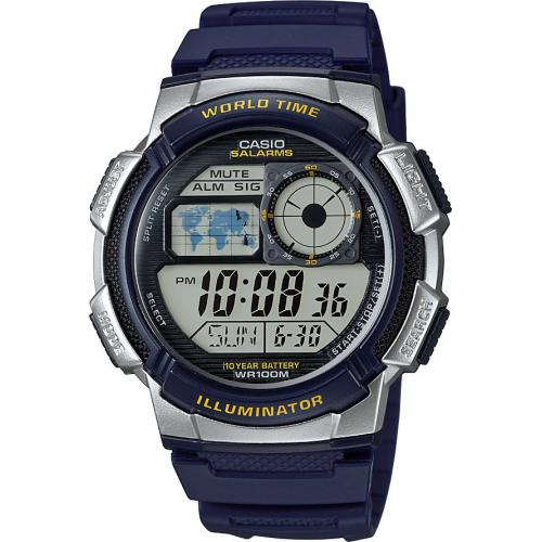 Casio - Montre Casio Collection AE-1000W-2AVEF - Montre Bleue Fuseaux Homme - Montre & bijou