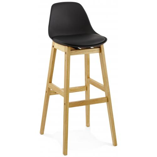 3S. x Home - Tabouret de bar design LADY noir - Tabouret de bar