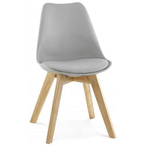 3S. x Home - Fauteuil design en simili gris NINA - Le salon