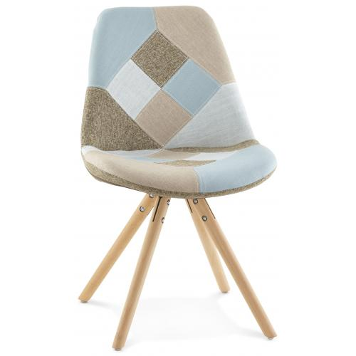 3S. x Home - Chaise design patchwork NINA - Fauteuil
