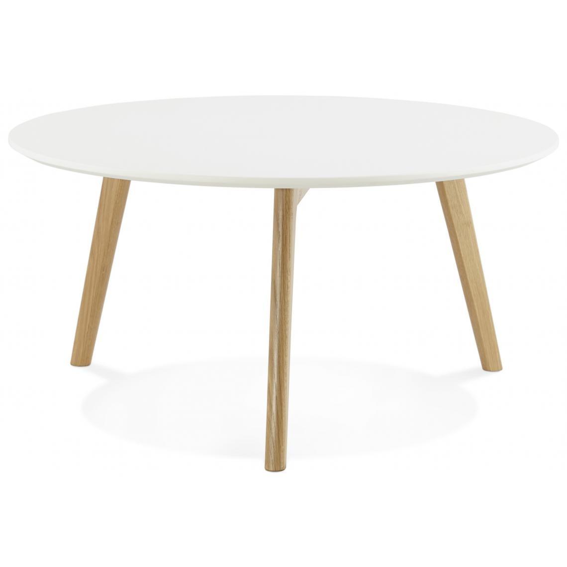 table basse blanche ronde scandinave elsa 3 suisses. Black Bedroom Furniture Sets. Home Design Ideas