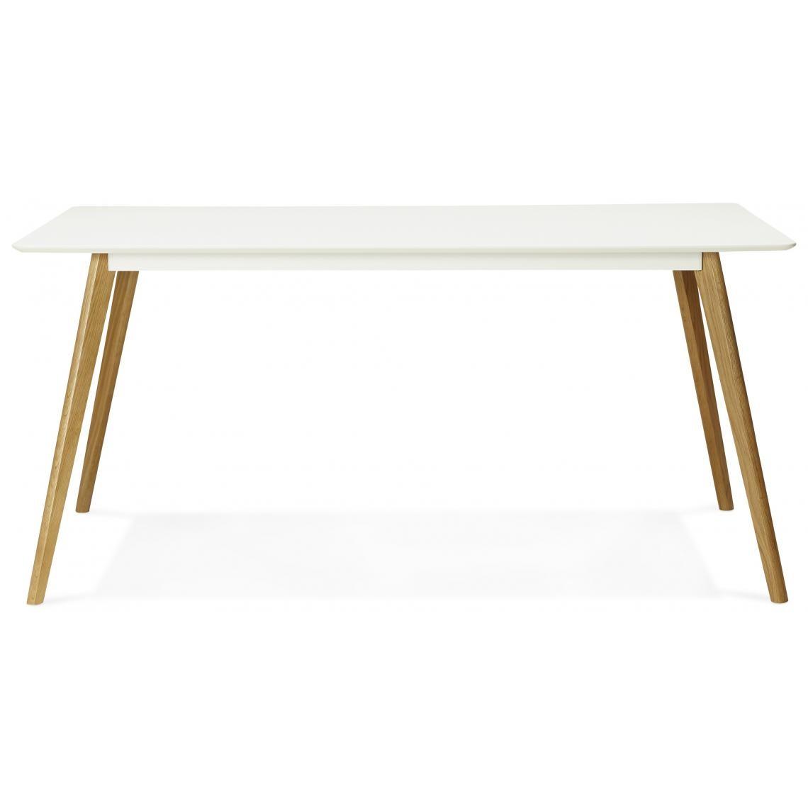 Table Blanche Pied Bois table à manger rectangulaire blanche pieds bois candy plus de détails