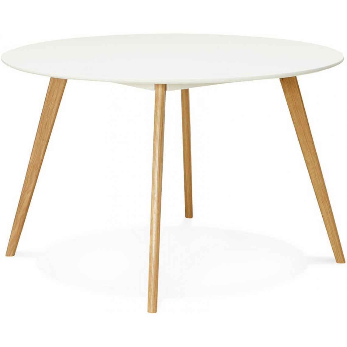 Table Blanche Pied Bois table à manger ronde blanche pieds bois zoeper plus de détails