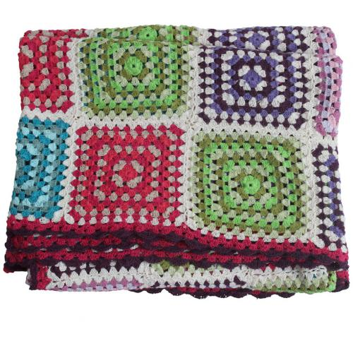 3 SUISSES - Plaid En Coton Multicolore 125X150 cm GORDA - Plaid