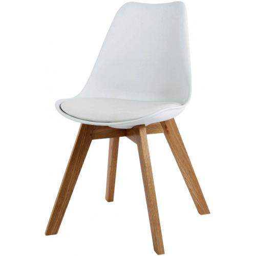 3S. x Home - Chaise Design Style Scandinave Blanche HADES - Meuble & Déco