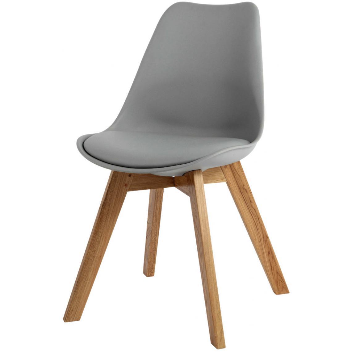 Chaise Design Style Scandinave Grise ESBEN 3Suisses Mobilier Deco