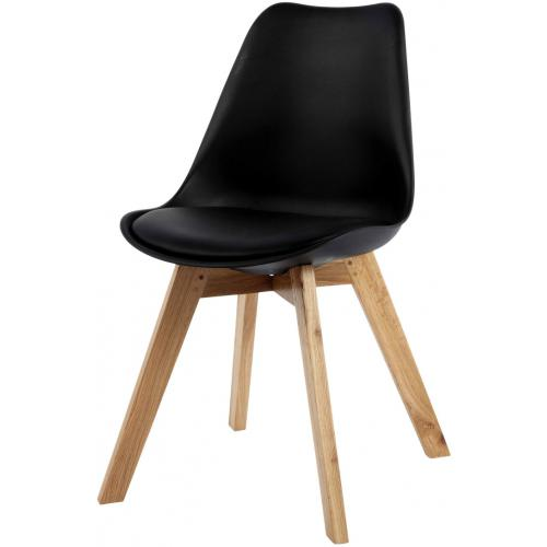 3S. x Home - Chaise Design Style Scandinave Noire HADES - Chaise
