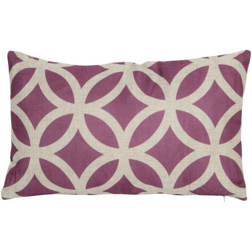 Coussin Rectangulaire Style Prune 30X50 cm VICTORIA