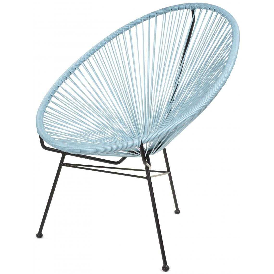 fauteuil la chaise longue bleu ardoise acapulco 3 suisses. Black Bedroom Furniture Sets. Home Design Ideas