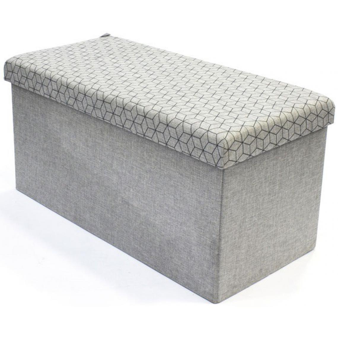 acheter populaire e2a2a 34f29 Coffre rangement banc pliable gris losange CHRONOS | 3 SUISSES