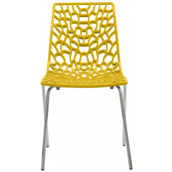 Chaise Design Jaune TRAVIATA 3 SUISSES Meuble & Déco