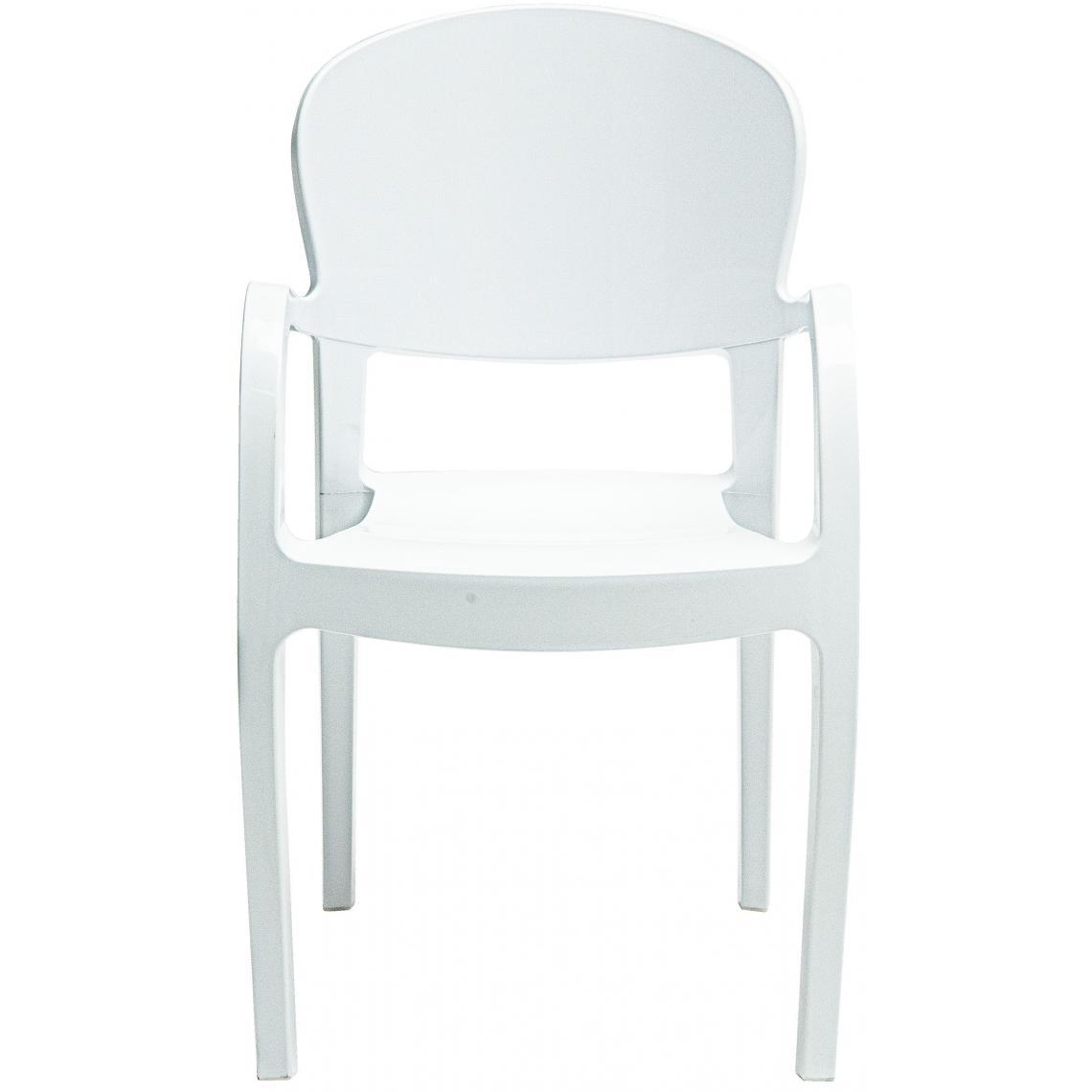 Chaise Design Blanche Avec Accoudoirs GLAM | 3 SUISSES