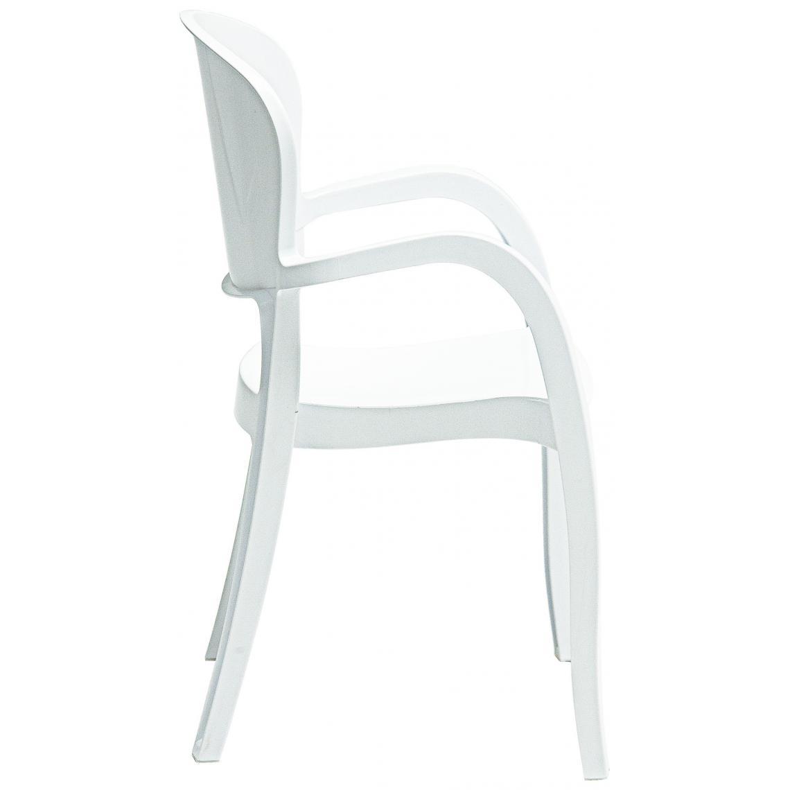 Avec GLAM3 SUISSES Chaise Design Accoudoirs Blanche 3Rc5A4jLSq
